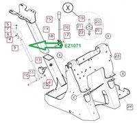 EZ1071 Пружина газовая