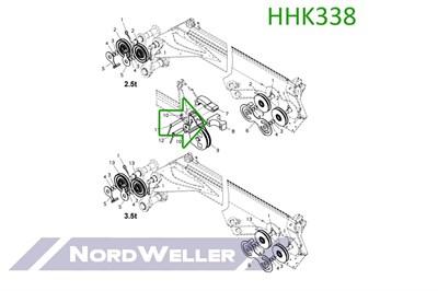 HHK338 Ролик направляющий для лебедки - фото 4917