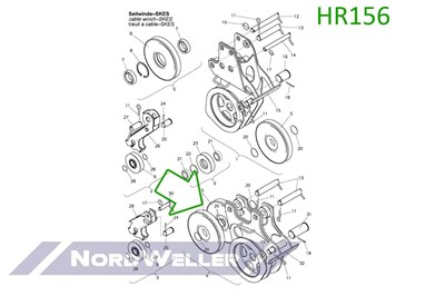 HR156 Ролик лебедки - фото 4941