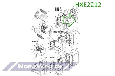 HXE2212 Кожух на консоль распределителя сложной формы - фото 4955