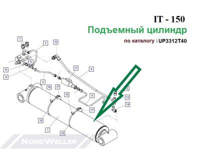 UP3312Т40 Цилиндр ИТ150.100 - фото 7397