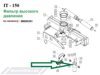 MI000301 Фильтр HPM282C10XNR1+ DV500 - фото 7405