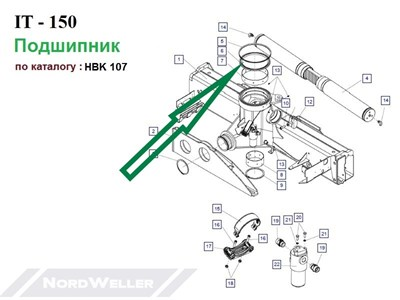 HBK 107 Подшипник - фото 7430