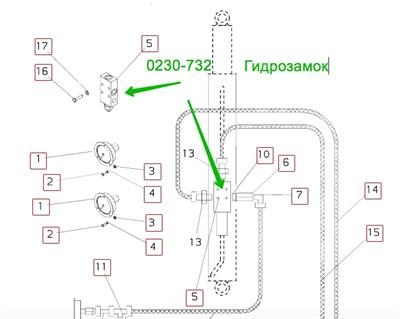0230-732 клапан гидравлический - фото 7673