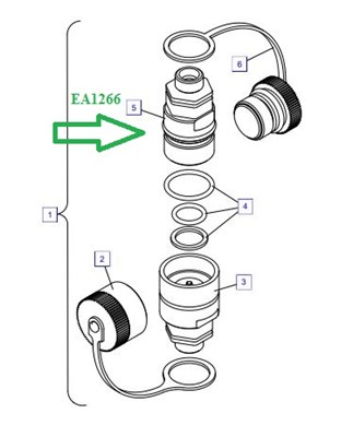 EA1266 Быстроразъемное соединение - фото 7685