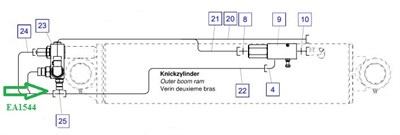 EA1544 Соединительный штуцер - фото 7695