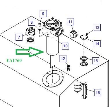 EA1760 Фильтр низкого давления, в сборе - фото 7710