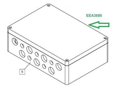EEA3686 Соединительная коробка - фото 7751