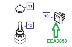 EEA3850 Кнопка, черная - фото 7762