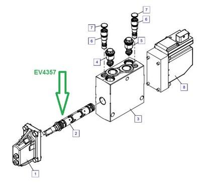 EV4357 Золотниковый шток - фото 7854
