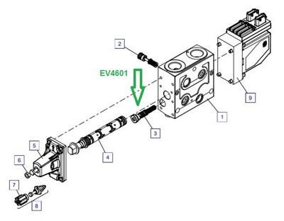 EV4601 Снабжение управляющего потока масла - фото 7856