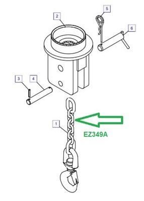 EZ349A Крюк с сцепным стропом - фото 7864