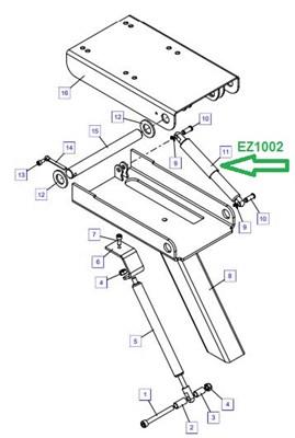EZ1002 Пружина газовая - фото 7865