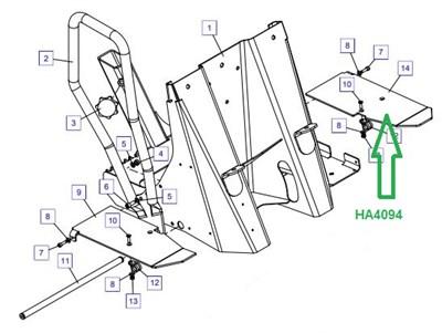 HA4094 Педаль левая - фото 7876