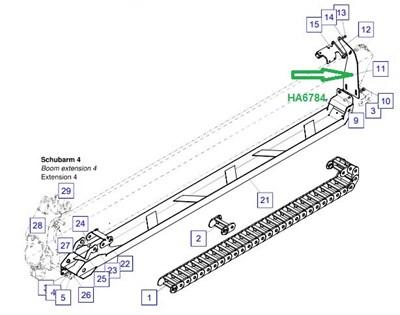 HA6784 Несущая опора - фото 7880