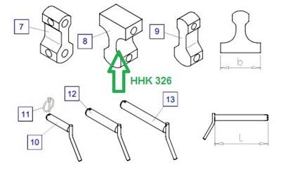 HHK326 Соединительная накладка - фото 7891
