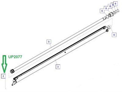 UP2077 Цилиндр телескопирования - фото 7955
