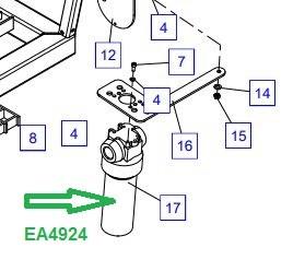 EA4924 Фильтр высокого давления - фото 7971