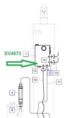 EV4673 Гидрозамок в сборе - фото 7984