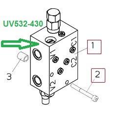 UV532-430  КЛАПАН ГИДРАВЛИЧЕСКИЙ - фото 8009