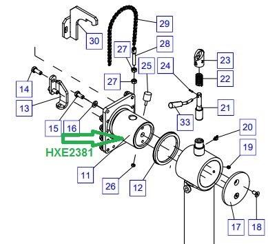 HXE2381 Опорный подшипник - фото 8010
