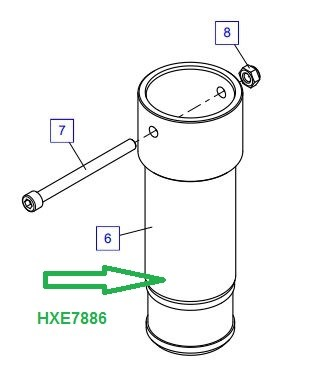 HXE7886 Удлинитель опоры - фото 8016