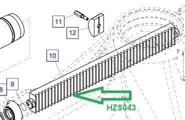 HZS043 Рейка - фото 8021