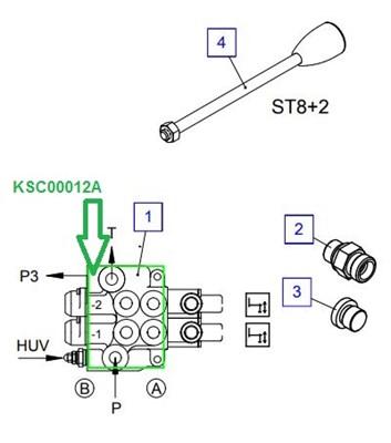 KSC00012A Гидрораспределитель (-секций) - фото 8022