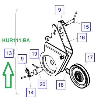 KUR111-BA Роликовая головка в сборе - фото 8027