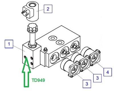TD949 Комплект уплотнений - фото 8035