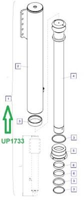 UP1733 Опорный цилиндр - фото 8038