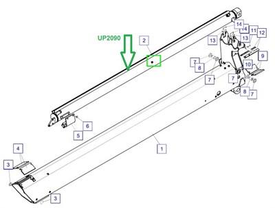 UP2090 Цилиндр телескопирования - фото 8040