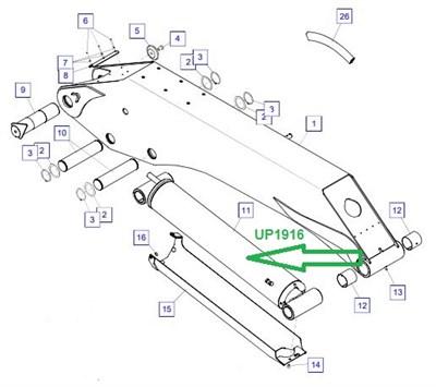 UP1916 Цилиндр 2-й стрелы - фото 8041