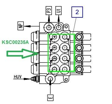 KSC00235A Гидрораспределитель (-секций) - фото 8049