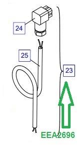 EEA2696 Штекерный разъем с кабелем - фото 8059