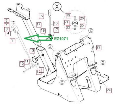 EZ1071 Пружина газовая - фото 8092