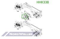 HHK338 Ролик направляющий для лебедки
