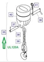 UL120A Крепление груза (перечень деталей управления)