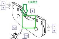 UR028 Отклоняющий шкив в сборе